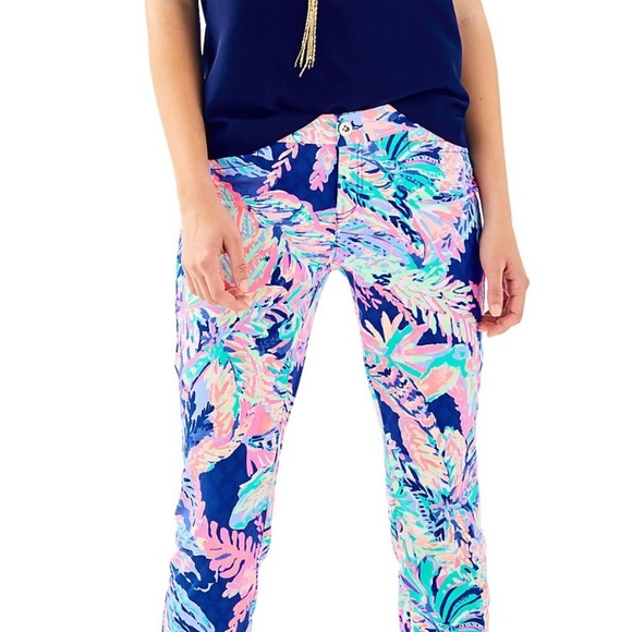Lilly Pulitzer Kelly ankle pants Sunset Safari